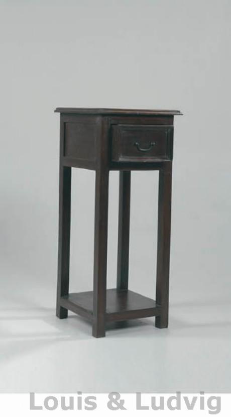Fantastisk Køb lille sødt Konsolbord i antik sort med 1 skuffe hos Louis & Ludvig EH72