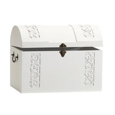 Køb lille hvid kiste - dekorativ kiste i romantisk fransk landstil og vintagestil hos Louis & Ludvig