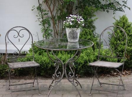 Cafebord med glasplade fra Louis & Ludvig
