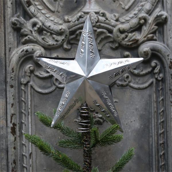 Superbly Se her - Charmerende juletræsstjerne i antik sølv i fransk AL45