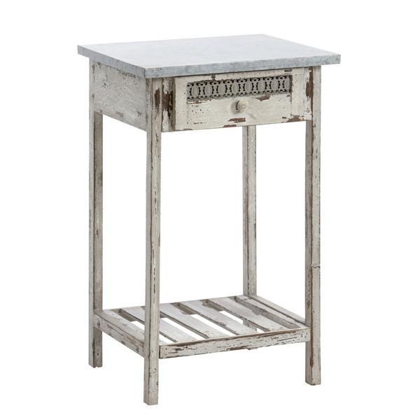 Godt Smukt lille konsolbord i antik hvid i skøn gammel landstil og CL17