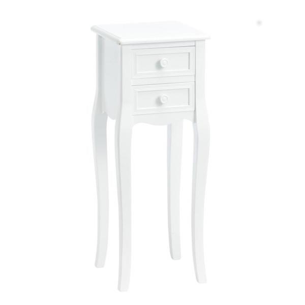 Køb nu - Romantisk hvidt konsolbord med 2 skuffer i smuk fransk ...