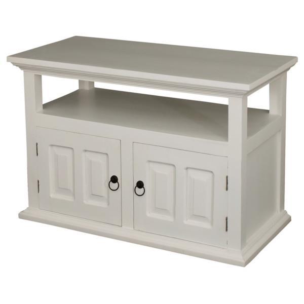 vintage tv m bel i hvidmalet massivt mahogni med to l ger. Black Bedroom Furniture Sets. Home Design Ideas