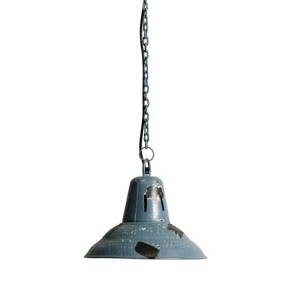 Køb loftlampe industri vintagestil   skøn loftlampe i antik blå ...