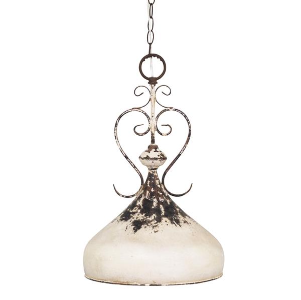 Loftlampe i fransk landstil fra Chic Antique i antique creme