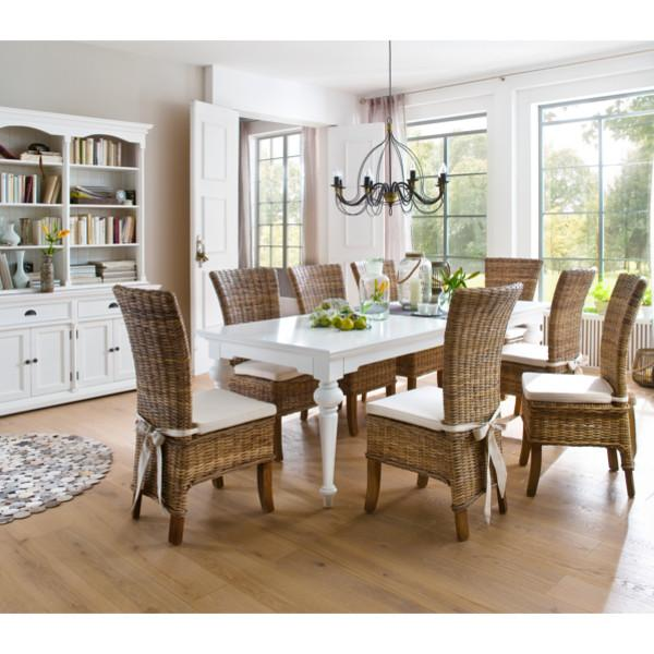 Se spisebord her - virkelig fint spisebord i hvid mahogni i fransk ...