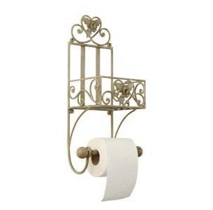 Seriøst Flot toiletrulleholder i fransk landstil med hylde og fine detaljer JU46